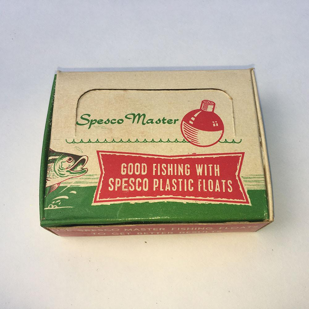 Spesco Master Vintage Box of Plastic Floats Complete with 12 Floats