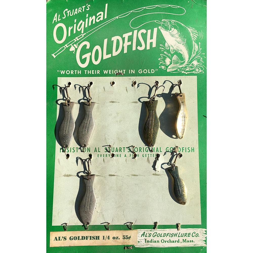 Al Stuarts Original Goldfish Original Store Display with 6 Vintage Spoons