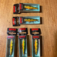 5 Rapala Original Floating F-7 Perch (inv#702)