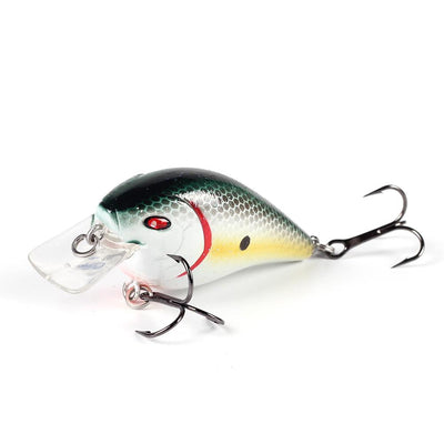 Fishlon Square Bill Crankbait 2 inch, 1/3 oz, Dives 3 ft,   Bleeding Minnow
