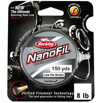Berkley Nanofil Fishing Line 150 yd 8 lb Low Vis Green