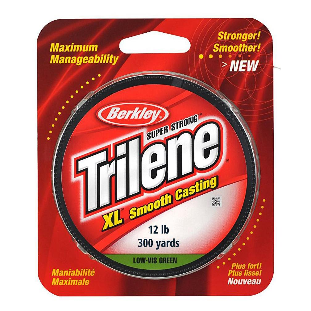 Trilene Fishing Line XL Smooth Casting 300 yd 12 lb Low Vis Green
