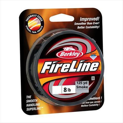 Berkley Fireline Fishing Line Braided 125 yd 8 lb Smoke