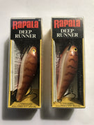 (2) Rapala Fat Rap Crawdad Deep Runner  FR-7-CW - MINT Lot of 2
