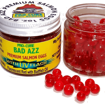 Pro-Cure Bad Azz Salmon Eggs Fluorescent Red 1oz