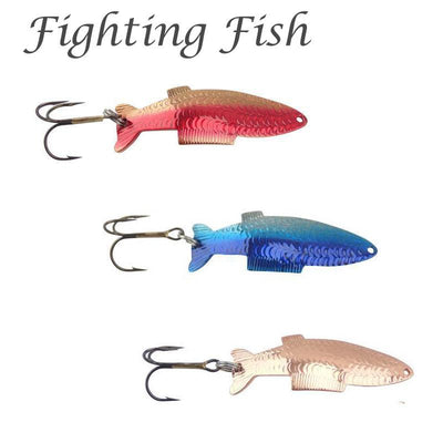 Thomas Fighting Fish Trout Spoon (choose size & color)