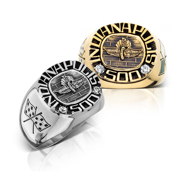 INDY 500 Fan Ring with Cubic Zirconia