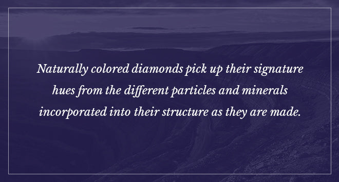 How naturally colored diamonds pick up their hues.
