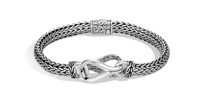 John Hardy Asli Classic Chain Small Chain Bracelet in Sterling Silver with Push Clasp
