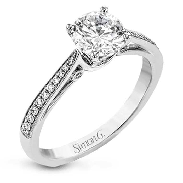 Semi Mounting With Reverse Taper Shoulders Engagement Ring