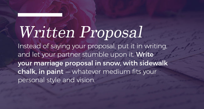 Put your proposal in writing.