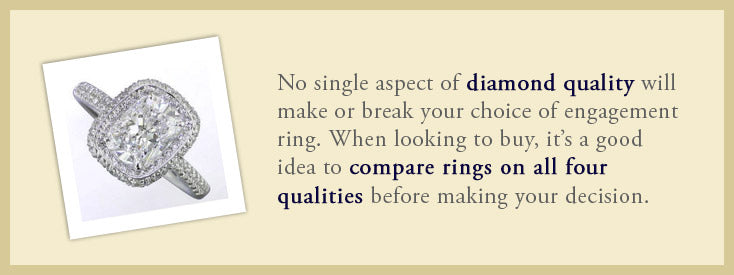 Compare rings on all four qualities.