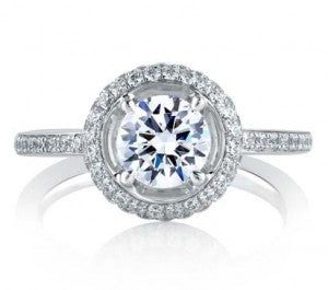 Engagement Ring in a Double Halo Classic Setting by A. Jaffe.