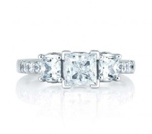 Princess Cut Diamond Ring by A. Jaffe.