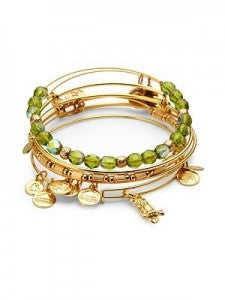 Alex and Ani Stack in Gold Finish