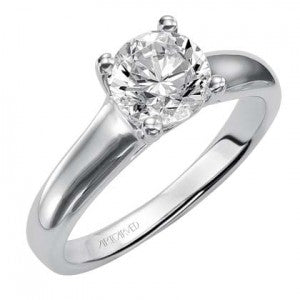 Solitaire Ring with Round Diamond by Artcarved.