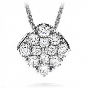 Hearts On Fire Silk Pave Diamond Shape Pendant Necklace.