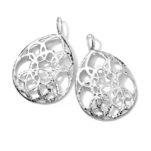 Gorgeous IPPOLITA Lacework Large Wonderland Earrings in Sterling Silver.