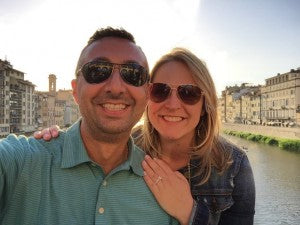 Jill and Lino celebrate their recent engagement in Rome, Italy!