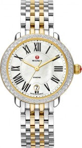 Michele Watch Serein 16 Diamond Two-Tone 14K Yellow Gold
