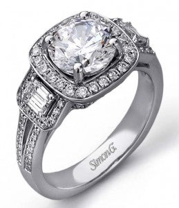 Engagement Ring in a Halo Setting by Simon G.