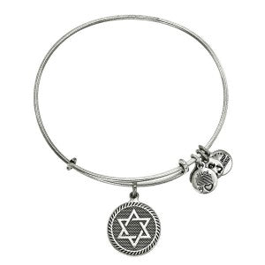 Star of David Charm Bangle in Silver