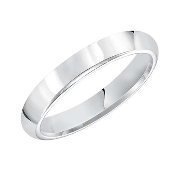 Goldman Wedding Band in 14K White Gold