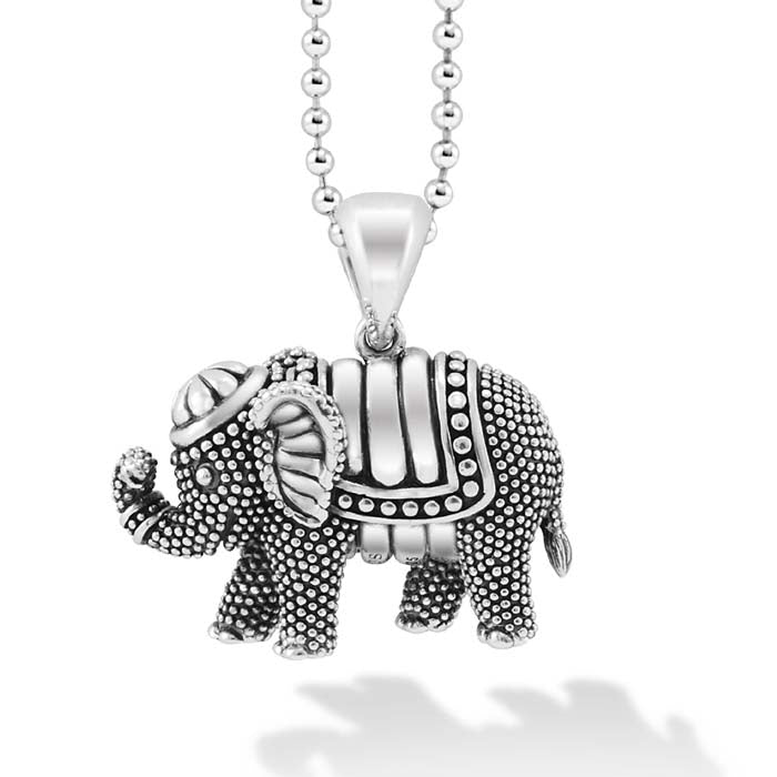 "LAGOS 34"" Elephant Rare Wonders Pendant in Sterling Silver"