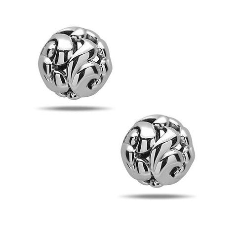 Charles Krypell 9MM Ball Stud Earrings in Sterling Silver