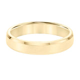 Goldman Men's 4.5MM Wedding Band with Brushed Center and Polished Edge in 14K Yellow Gold