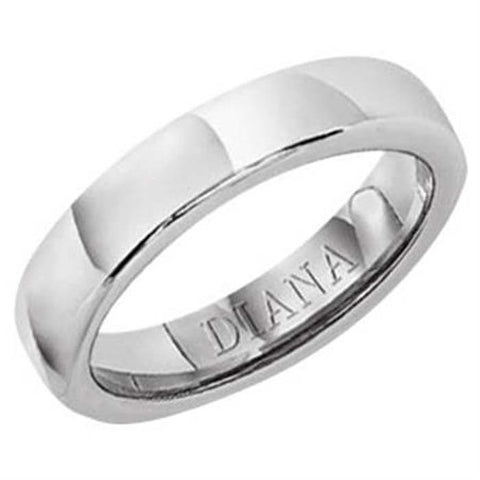 "Diana 4MM Women's ""Ergofit"" Wedding Band in 18K White Gold"