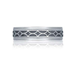 Tacori Men Sculpted Crescent Wedding Band in Platinum