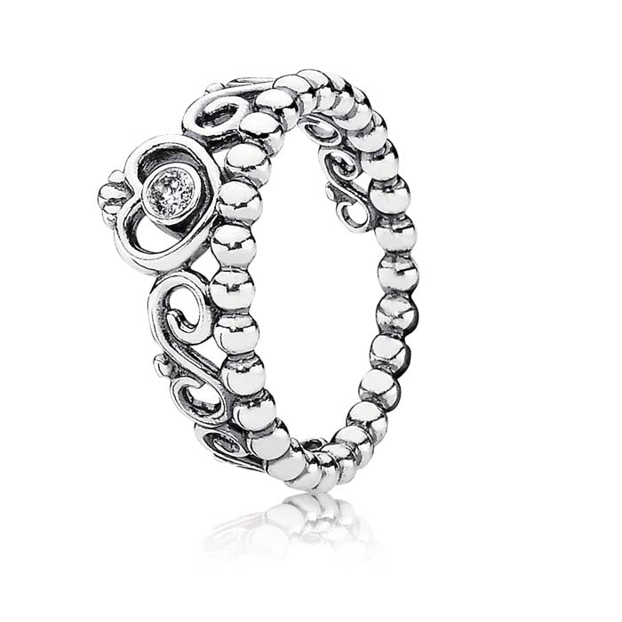 Pandora My Princess Ring with Clear CZS in Sterling Silver 190880CZ-58