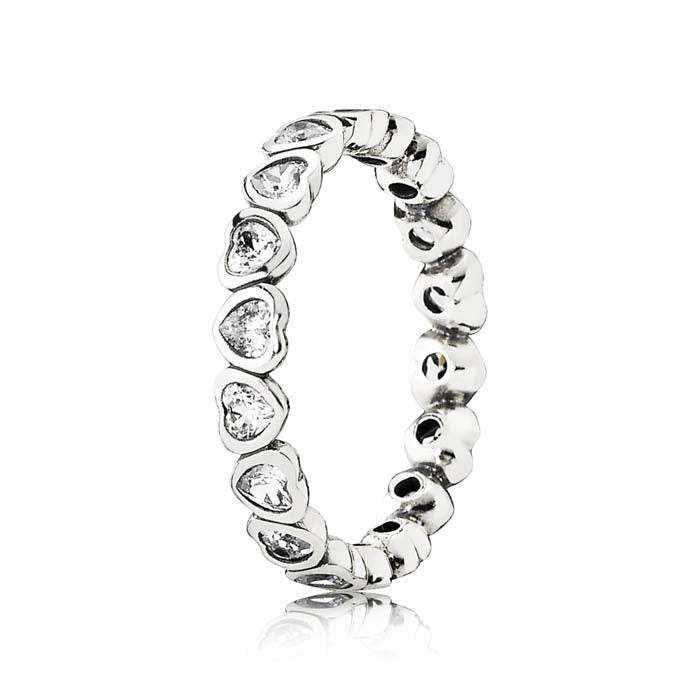 Pandora Forever More Clear CZ Eternity Ring in Sterling Silver, 190897CZ-60