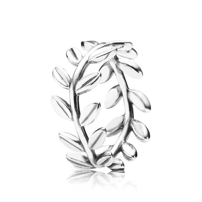 Pandora 50 Laurel Wreath Ring Sterling Silver, Ring size 5 190922-50