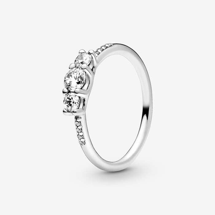 Pandora Fairytale Sparkle Ring in Sterling Silver 196242CZ-48