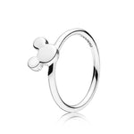 Pandora Mickey Mouse Silhouette Ring in Sterling Silver, ring size 7.5, 197508-56