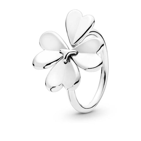 Pandora Moving Clover Ring Sterling Silver 197949-56