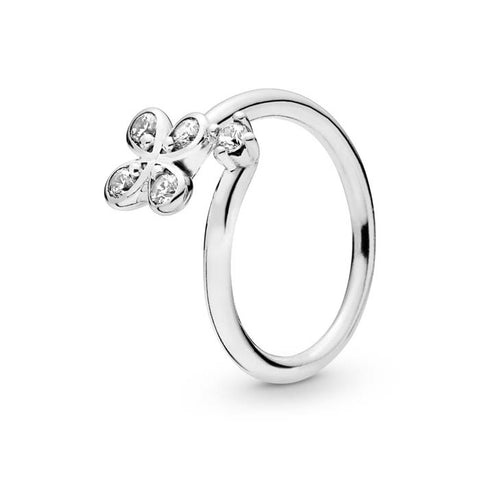 Pandora Four Petal Flower Ring Sterling Silver 197988CZ-56