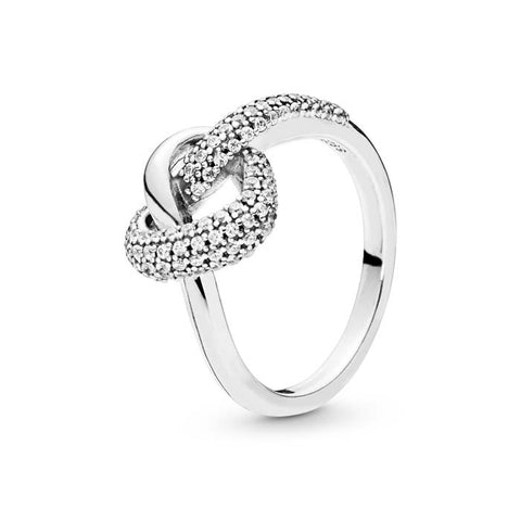 Pandora Knotted Heart Ring with CZ Sterling Silver 198086CZ-56