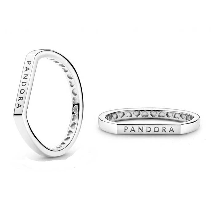 Pandora Logo Bar Ring in Sterling Silver - 199048C00-58