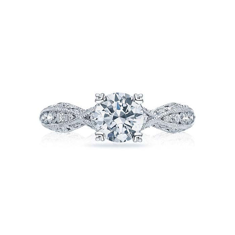 Tacori Classic Crescent Collection Engagement Ring Semi Mount Platinum with .85CTW Diamonds