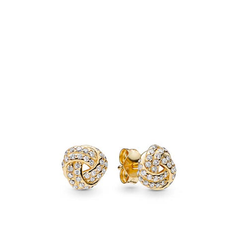 Pandora Shine Sparkling Love Knot Stud Earrings with CZ 260696CZ