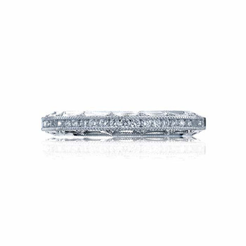 Tacori Reverse Crescent Wedding Band in 18K White Gold with Diamonds