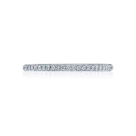 Tacori Dantela Collection Eternity Wedding Band 18K White Gold Ring with Diamonds