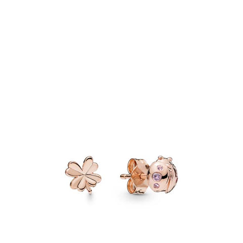 Pandora Rose Four Leaf Clover and Ladybird Beetle Stud Earrings 287960NPO