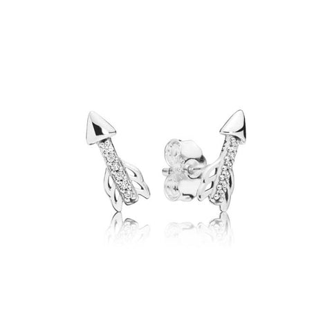 Pandora Sparkling Arrow Earrings in Sterling Silver 297828CZ