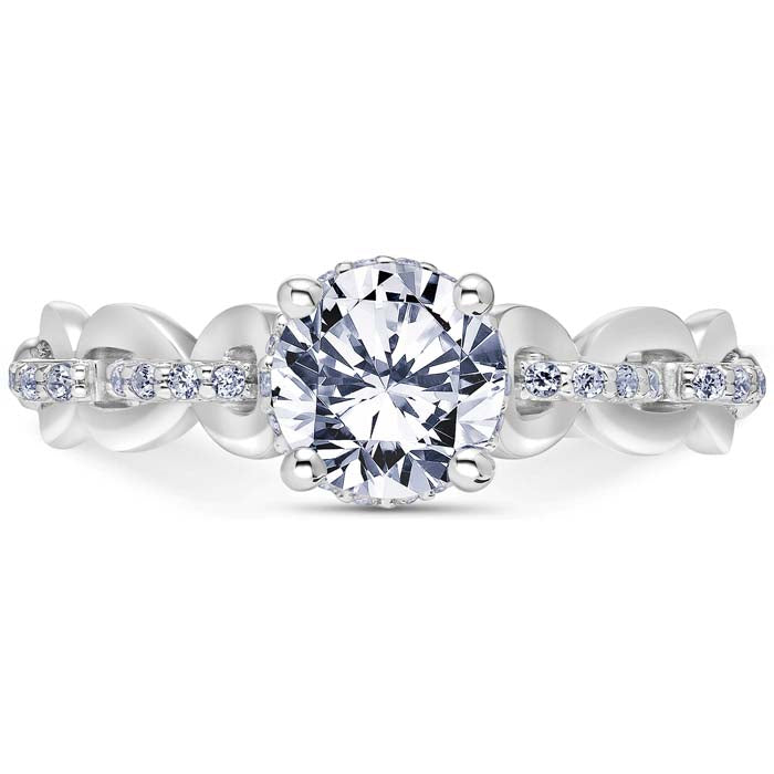 Scott Kay .25TW Embrace Collection Diamond Engagement Ring Semi-Mounting in 14K White Gold