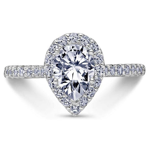 Scott Kay .46TW Luminaire Collection Diamond Engagement Ring Semi-Mounting in 14K White Gold