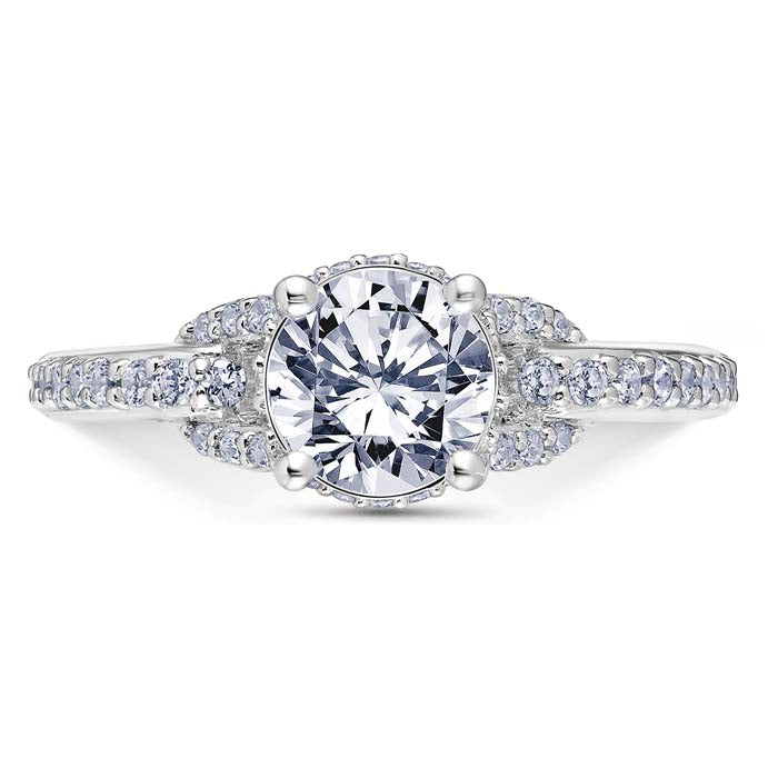 Scott Kay .53TW Embrace Collection Diamond Engagement Ring Semi-Mounting in 14K White Gold
